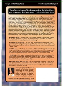 The Caged Bird Does Sing by Ronda Henry (Back Cover)
