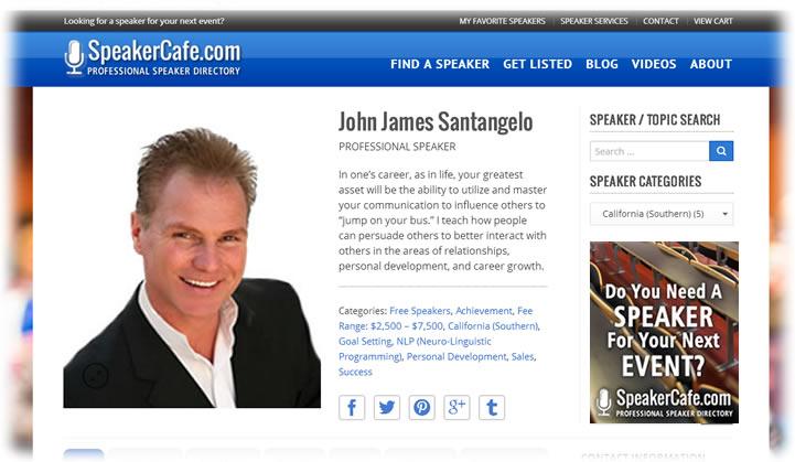 John James Santangelo Speaker Listing