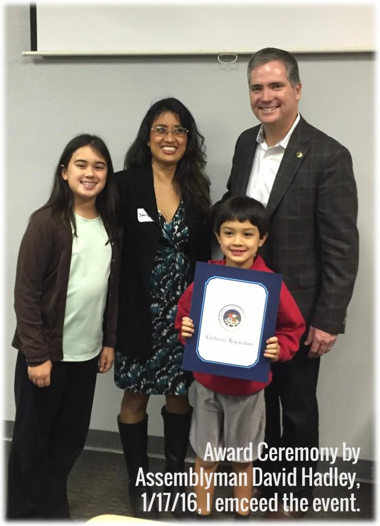 Jacqueline Huynh Award Ceremony by Assemblyman David Hadley