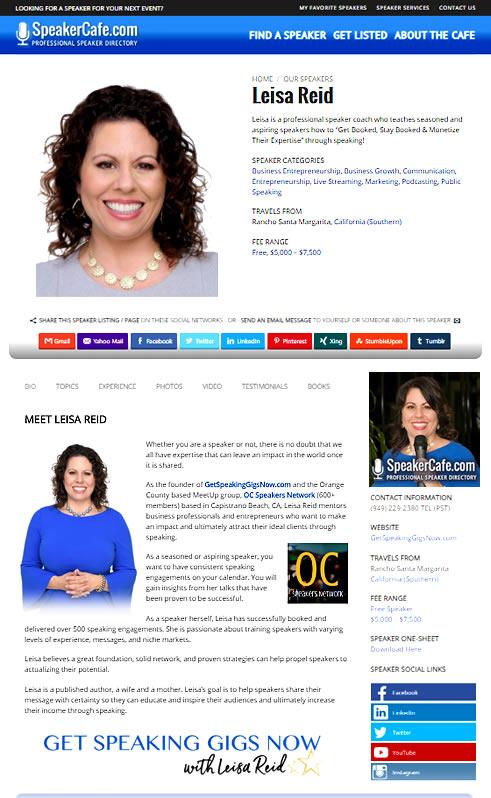 Leisa Reid, Professional Speaker